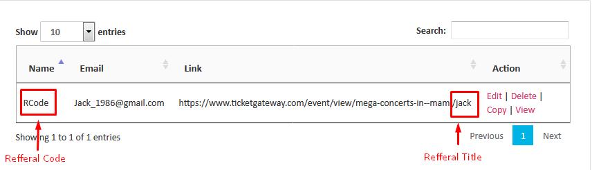 Referral Program : Ticketgateway