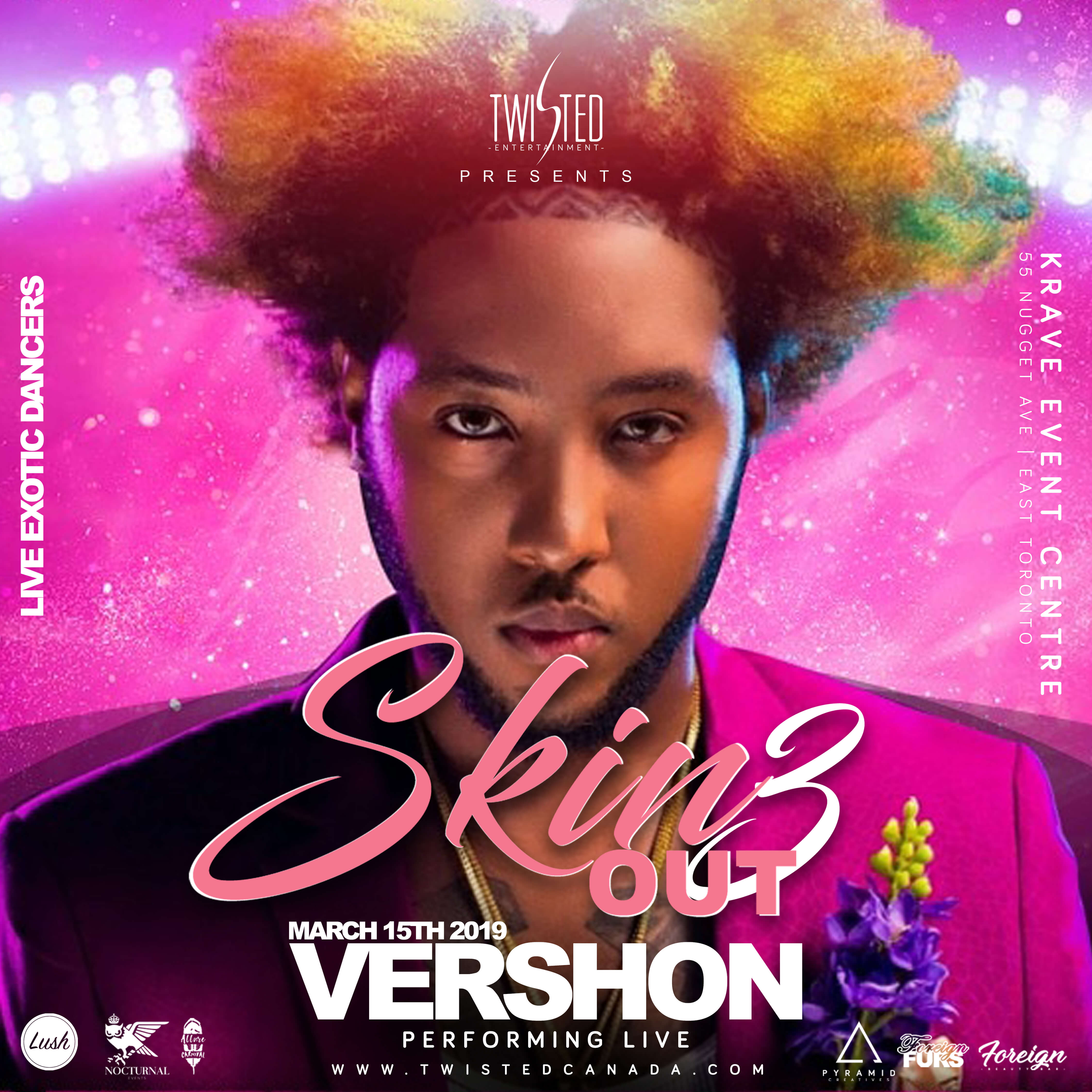 Skin Out 3 Ft  Vershon LIVE | Lingerie Party | March 15th 2019