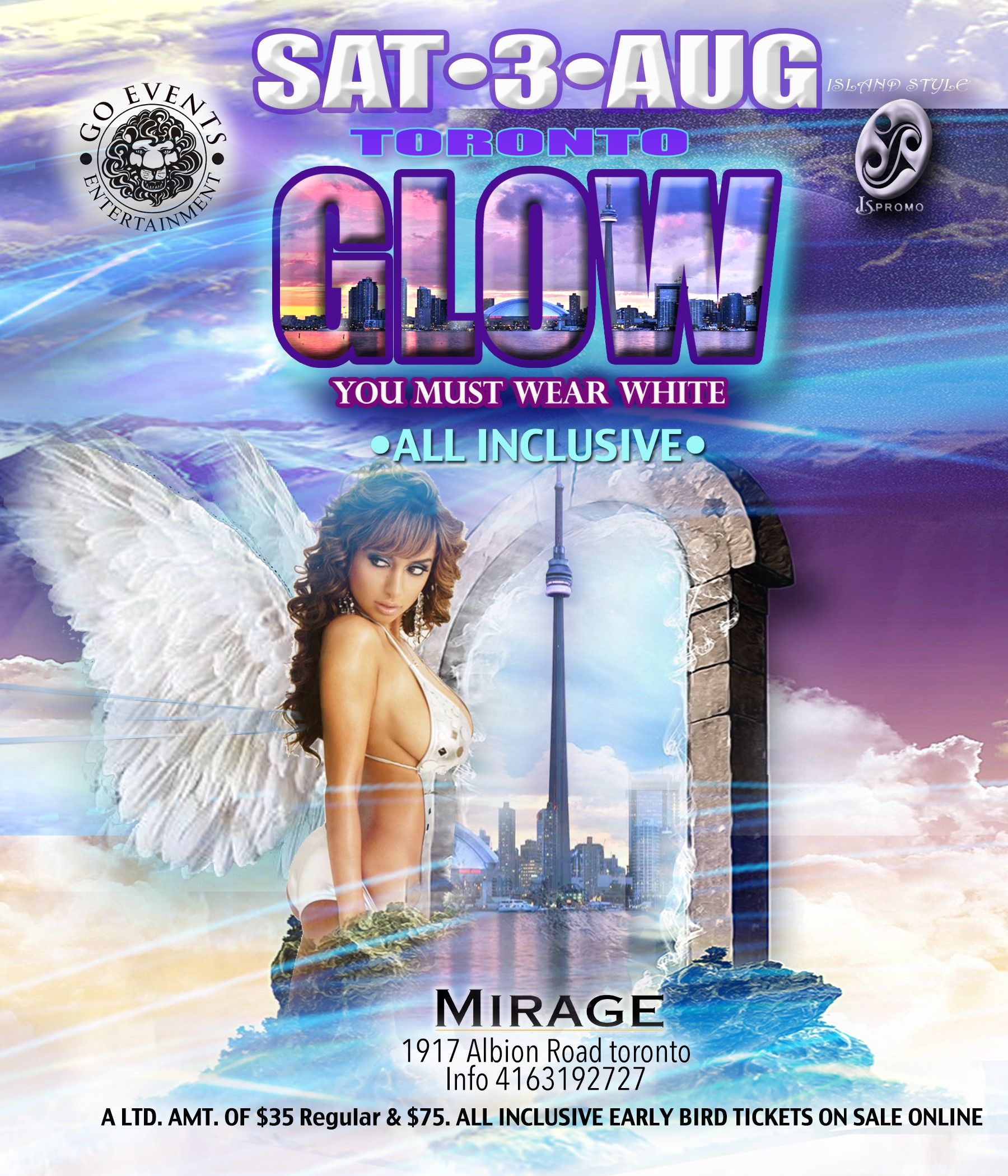 GLOW - YOU MUST WEAR ALL WHITE