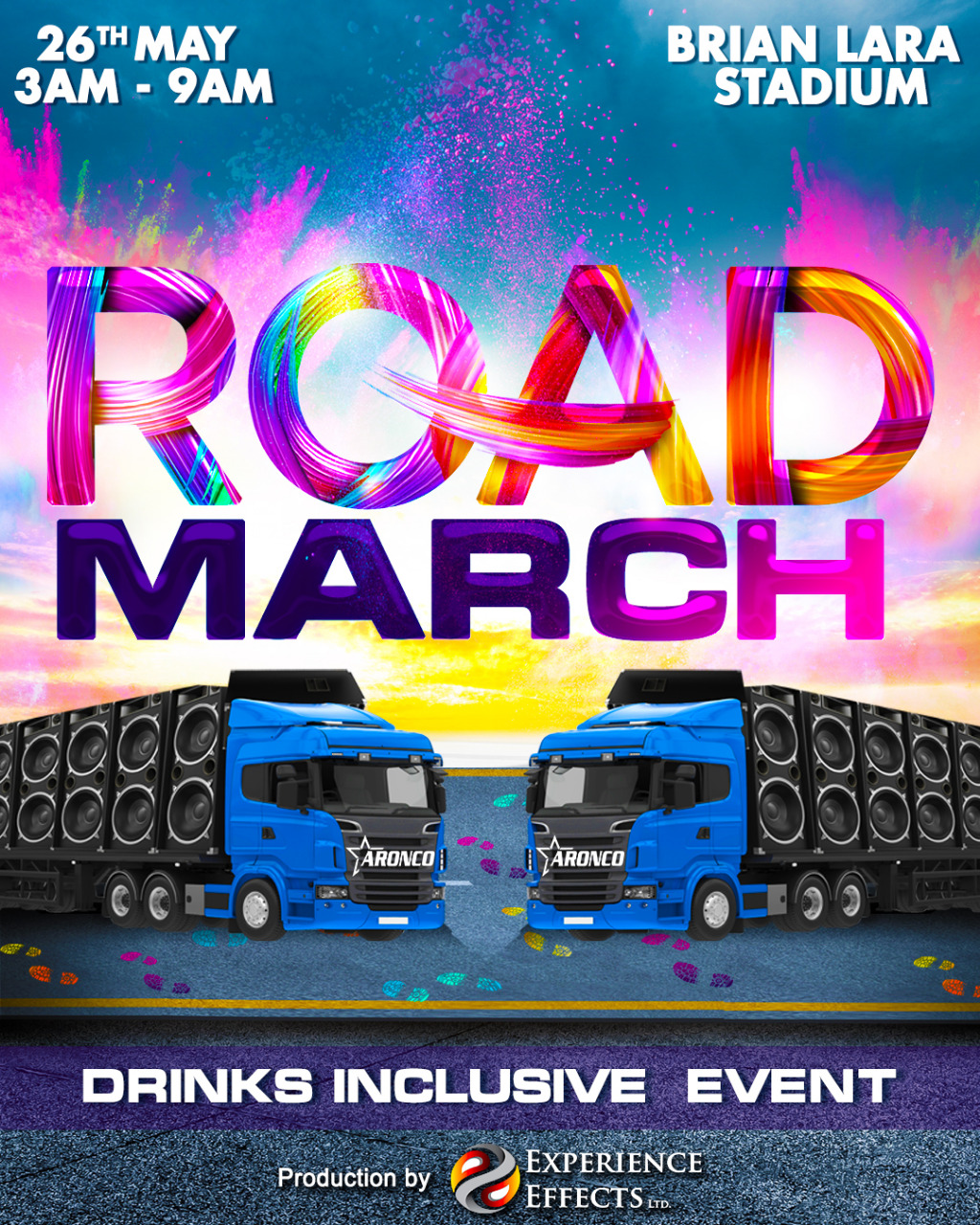 Road March - Drinks Inclusive Event