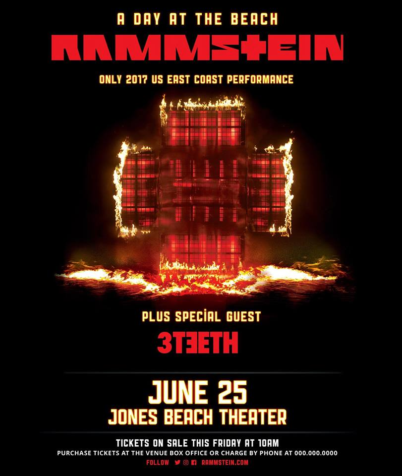 rammstein tour 2017 wantagh concert tickets at northwell health at jones beach theater. Black Bedroom Furniture Sets. Home Design Ideas