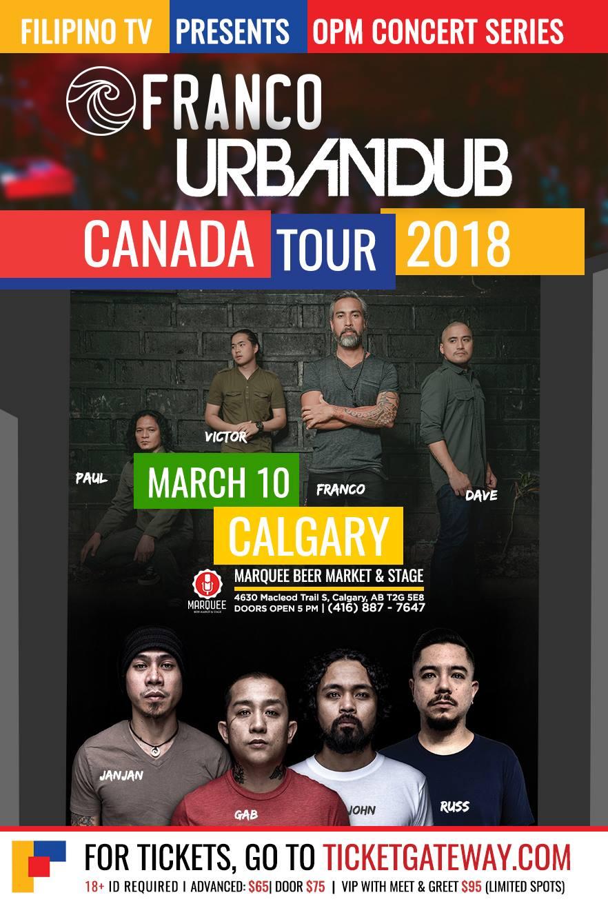 Urbandub franco live in calgary 2018 buy tickets urbandub franco live in calgary cancelled stopboris Choice Image