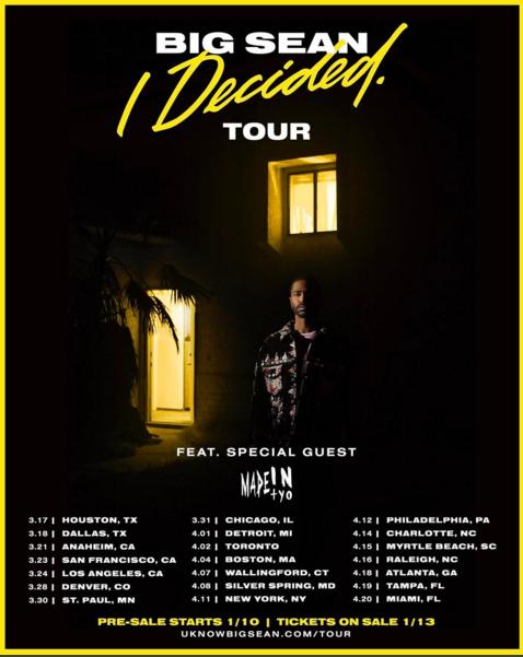 Big Sean I Decided Tour Tickets