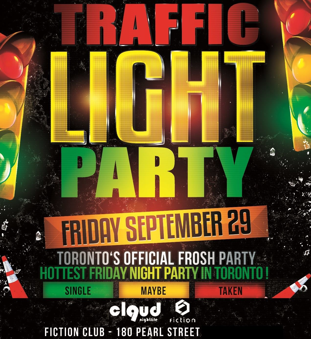 Traffic Light Party @ Fiction // Fri Sept 29 | 1000+ People