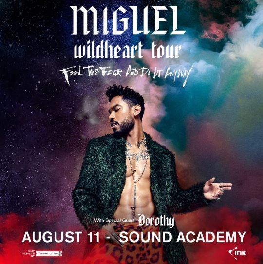 Miguel — 2016 Tour Dates