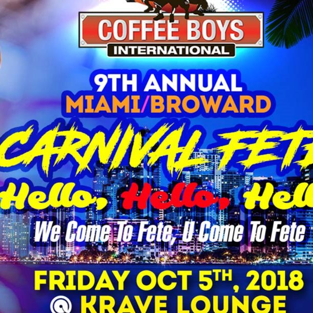 COFFEE BOYS INTERNATIONAL MIAMI-BROWARD CARNIVAL FETE