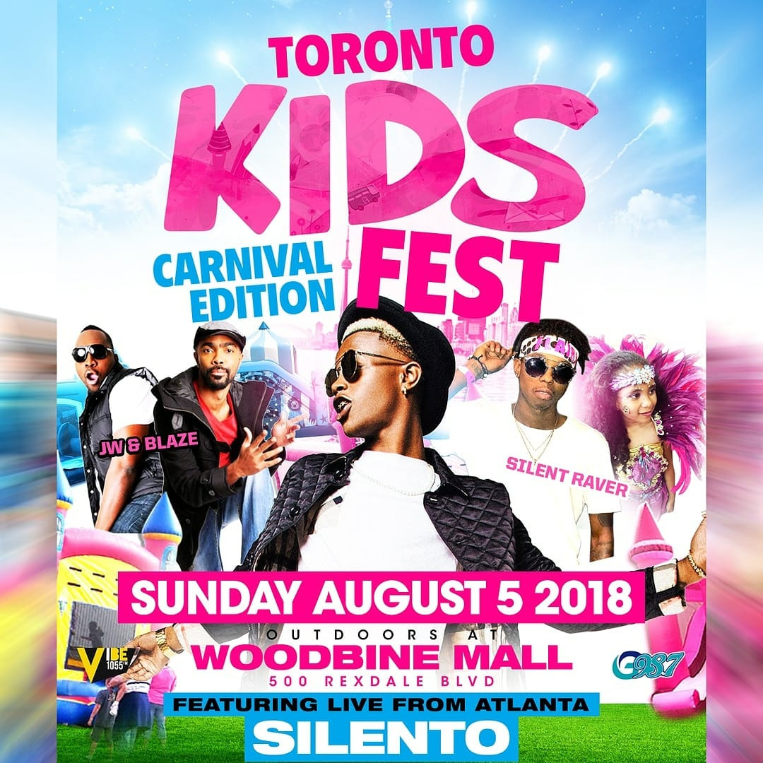 KIDS FEST CARIBANA SUNDAY @WOODBINE MALL FEAT: SILENTO AND MANY MORE ACTS