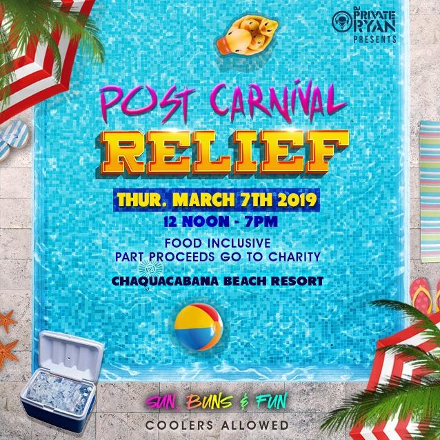 Post Carnival Relief  2018 - Sun, Buns and Fun