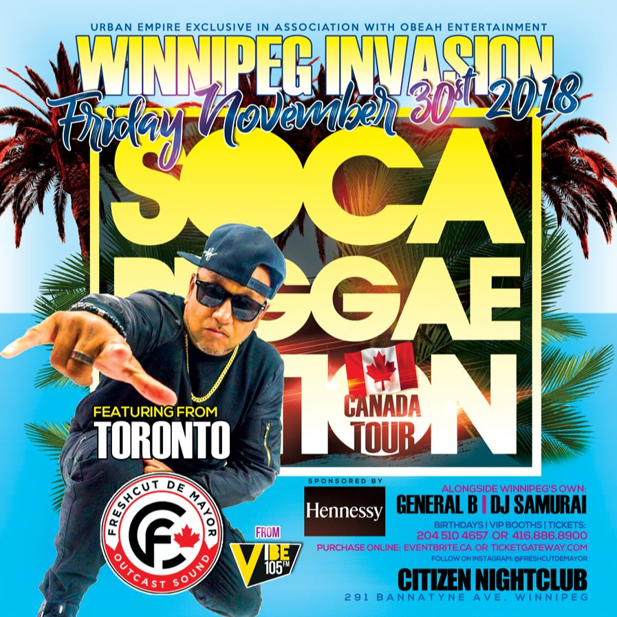 SOCA REGGAELUTION WINNIPEG INVASION