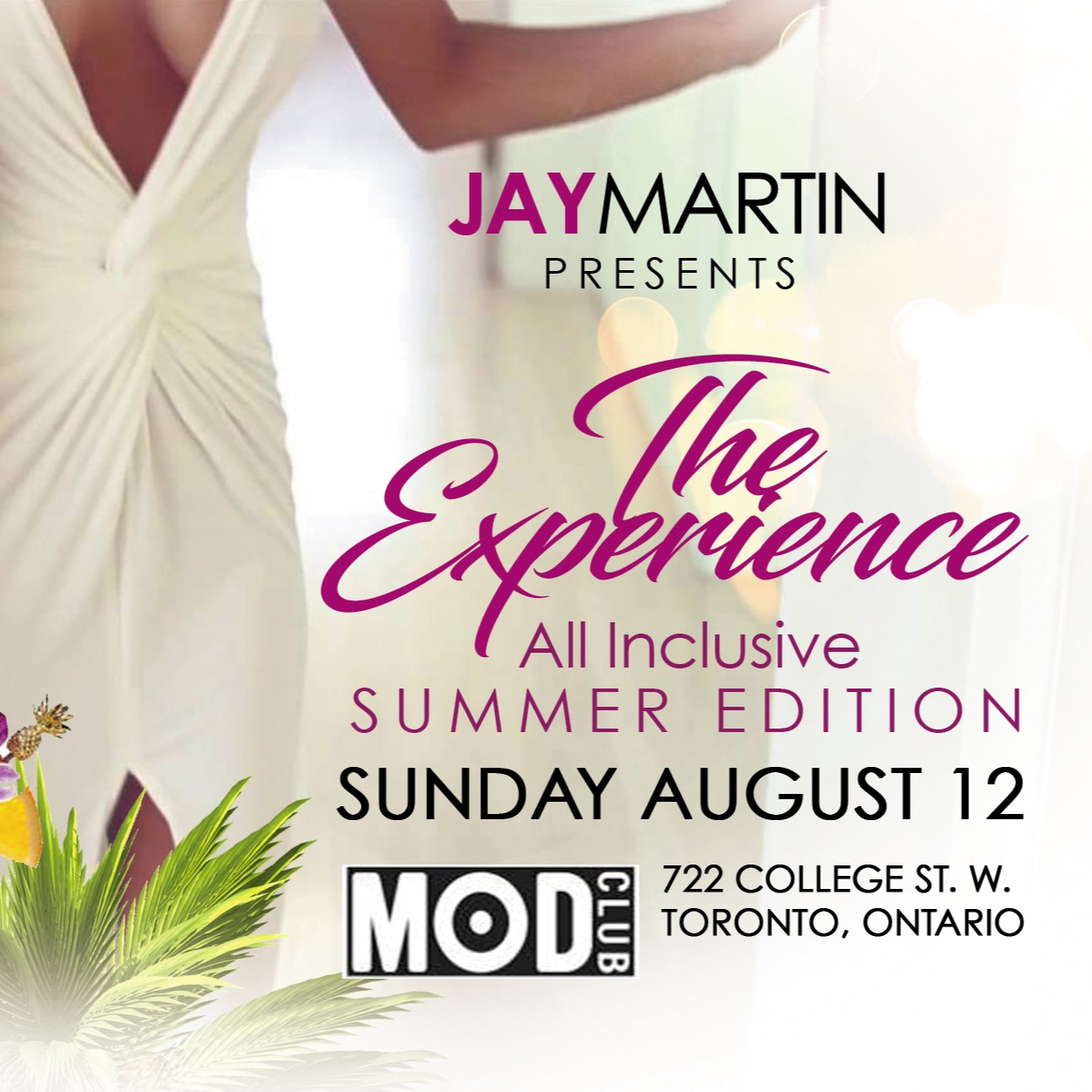Jay Martin Presents The Experience All and Food Inclusive Summer Edition