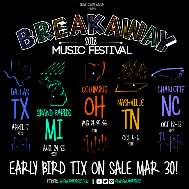 Breakaway Music Festival 2018 - Friday & Saturday Tickets