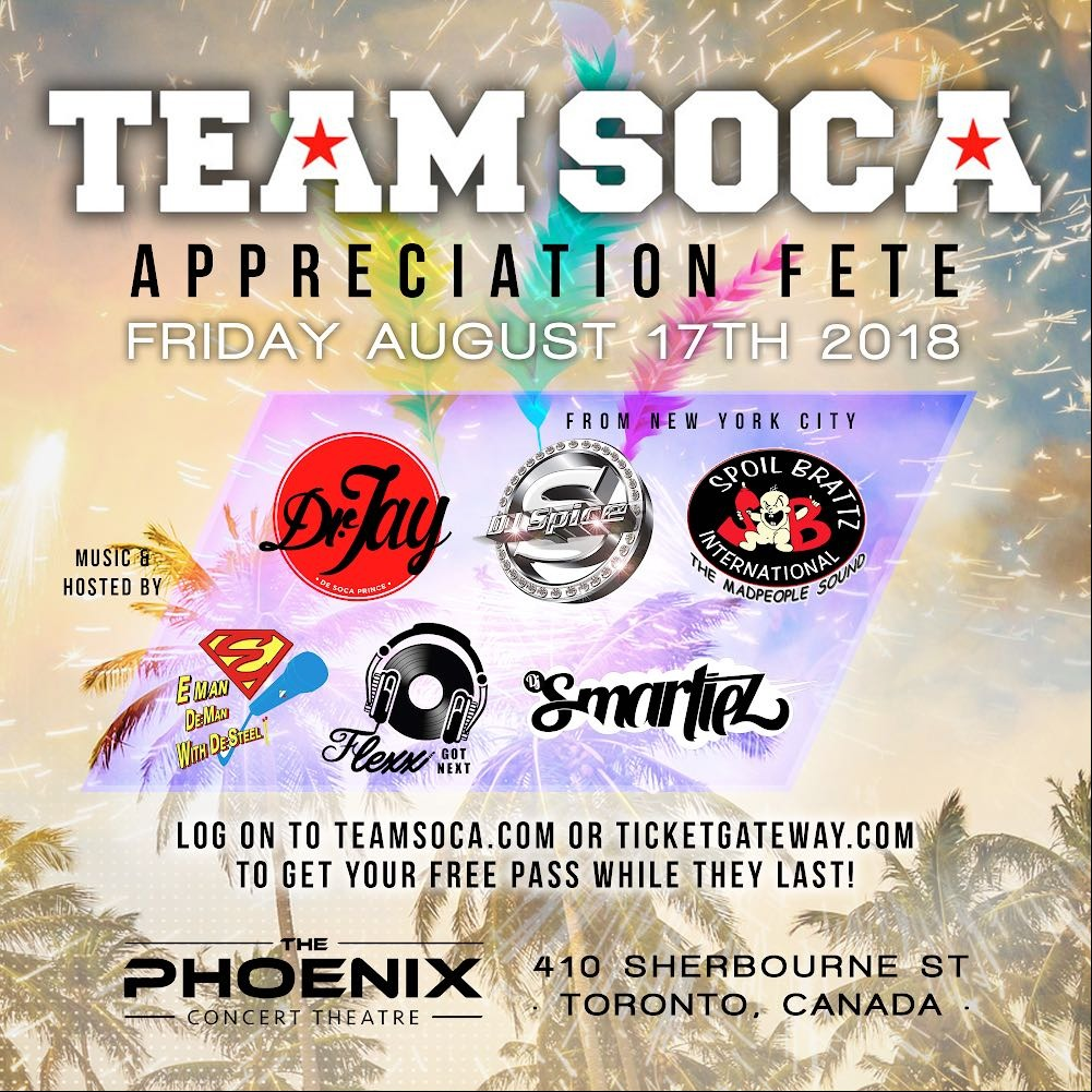 TEAM SOCA - APPRECIATION FETE 2018
