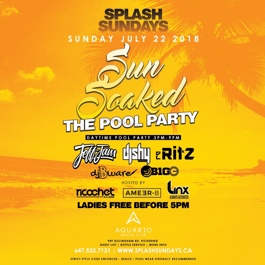 SPLASH SUNDAYS - THE OUTDOOR DAY PARTY
