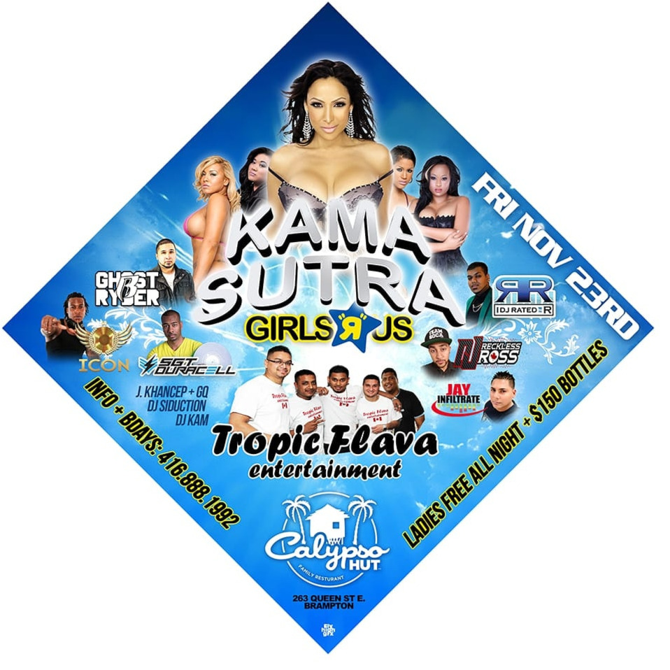 KAMA SUTRA FRIDAY NOV 23RD 2018 @CALYPSO HUT (BRAMPTON)