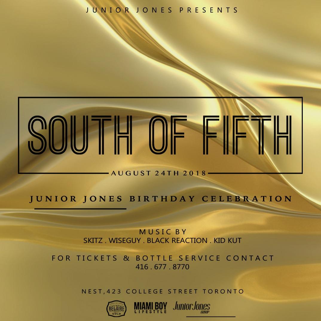 SOUTH OF FIFTH  - JUNIOR JONES BIRTHDAY CELEBRATION