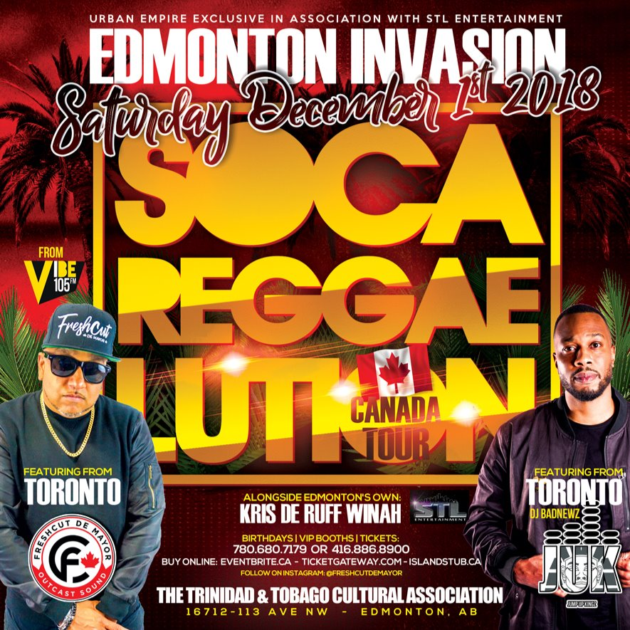 SOCA REGGAELUTION EDMONTON INVASION