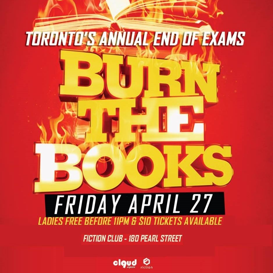 Burn the Books @ Fiction // Fri Apr 27 | Ladies FREE Before 11 & $4 Drinks