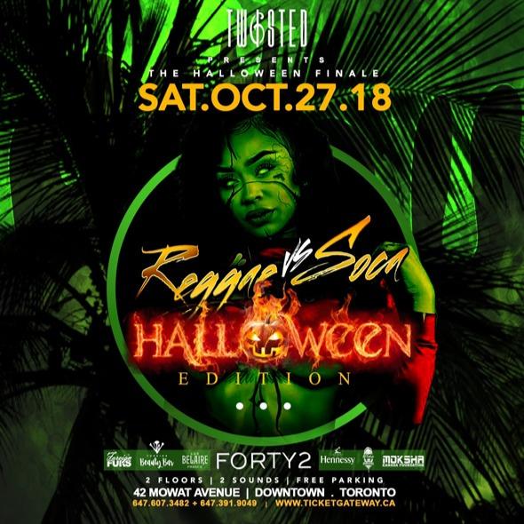 Reggae Vs Soca: Halloween Edition | Sat Oct 27th | 42 Supperclub