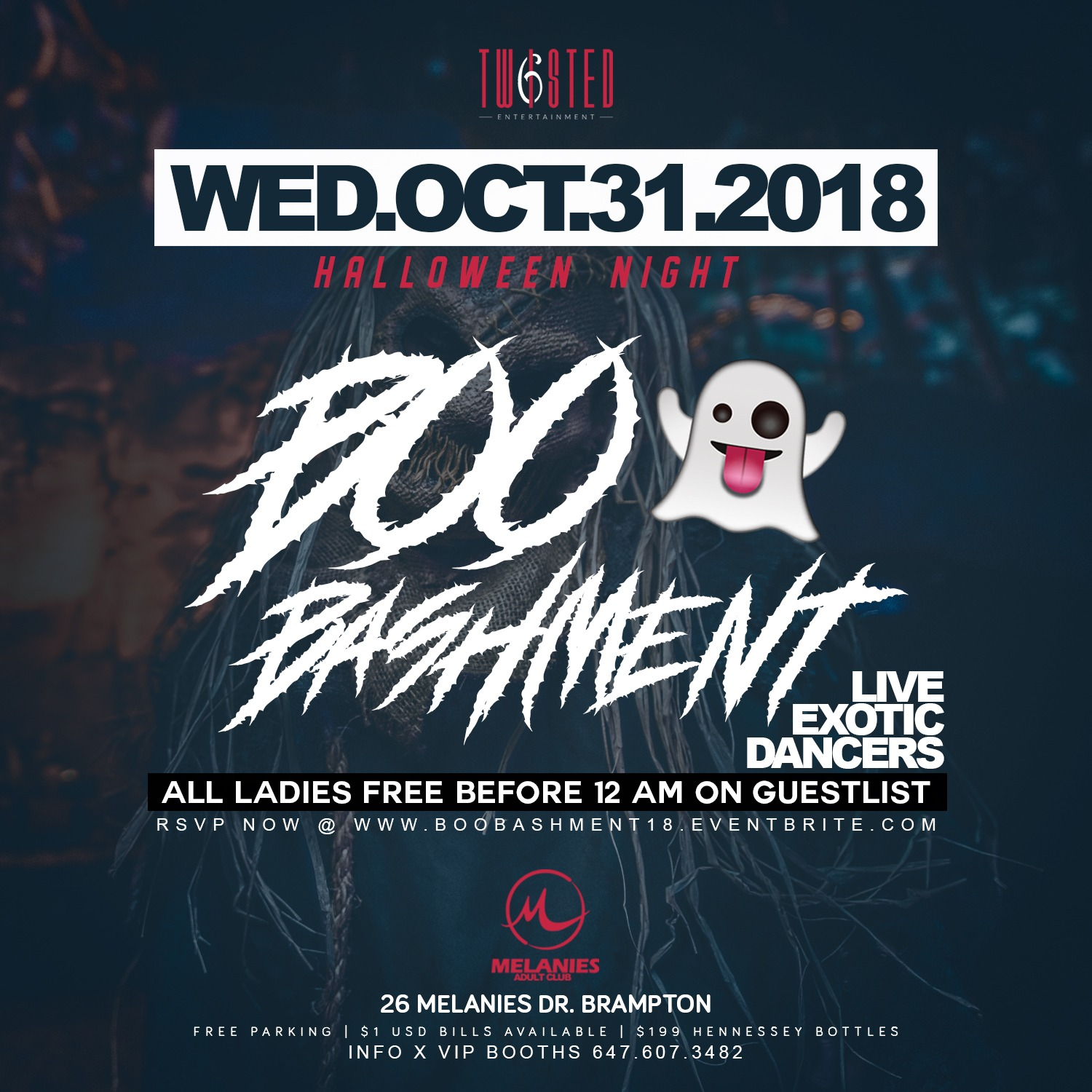 BOO Bashment | Halloween Night | Wed Dec 31st 2018