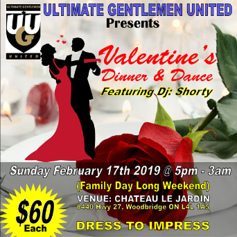 UGU -- Valentine's Dinner and Dance -- Long Weeked