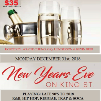 NEW YEARS EVE ON KING STREET | DISTRICT LOUNGE | MON DEC 31st, 2018