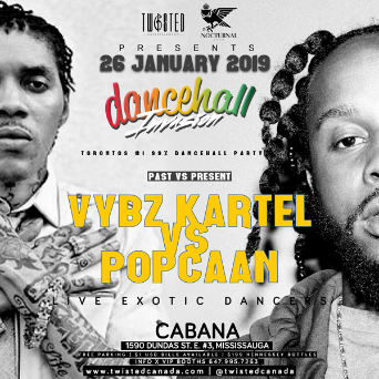 Twisted - Dancehall Invasion - VYBZ Kartel vs Popcaan