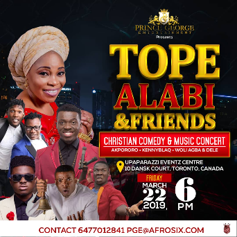 TOPE ALABI & FRIENDS MUSIC AND COMEDY LIVE IN CONCERT