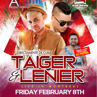 AR Productions - Taiger Lenier LIve In Montreal
