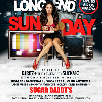 SUGAR DADDYS FAMILY DAY LONG WEEKEND SUNDAY *LADIES FREE BEFORE MIDNIGHT*