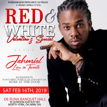 Red and White - Valentine's Special - Jahmiel Live In Toronto