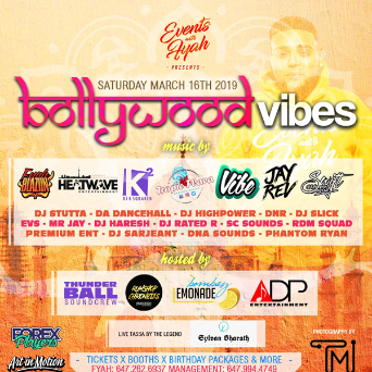 Events With Fyah - Bollywood Vibes
