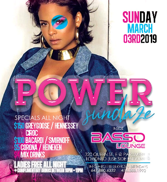 THE NEW INDUSTRY SUNDAYS (POWER SUNDAZE) @ BASSO LOUNGE (TORONTO)