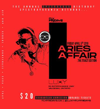 Aries Affair 'Spex Annual Birthday Celebration' Inside Luxy Nightclub