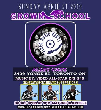 GROWN SCHOOL VIDEO MUSIC PARTY APRIL 21 2019