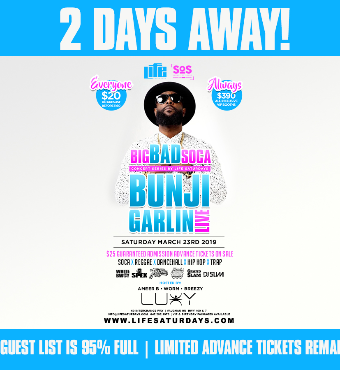 Bunji Garlin Live in Concert | Saturday March 23rd