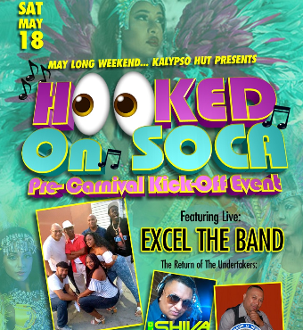 Hooked on Soca : Pre-Carnival Kick-off Event