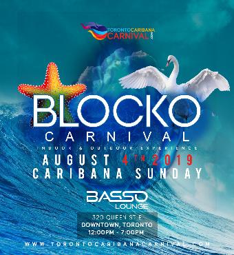 Carnival Blocko | 100% Outdoors | Caribana Sunday | Aug 4th