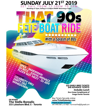 That 90s Fete Boat Ride 2019