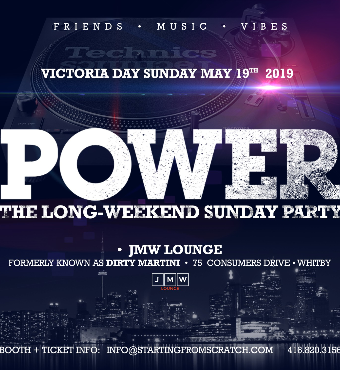 POWER - THE SUNDAY LONG WEEKEND PARTY ( MAY 19)