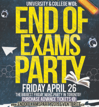 END OF EXAMS PARTY @ FICTION NIGHTCLUB | FRIDAY APRIL 26TH