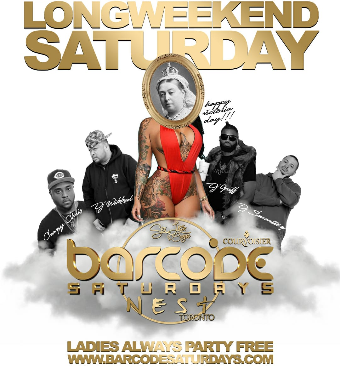 BARCODE SATURDAYS LONG WEEKEND PARTY