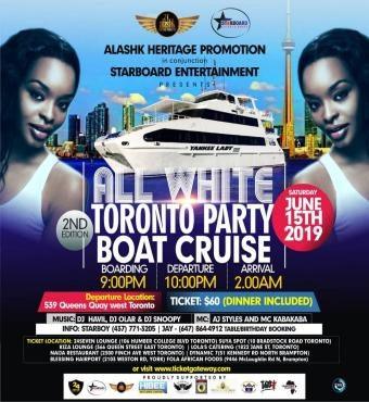 All White Toronto Boat Cruise