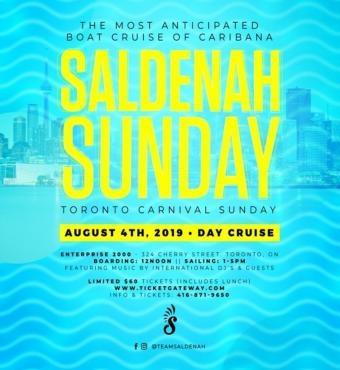 Saldenah Sunday Boat Cruise — Toronto Carnival Sunday