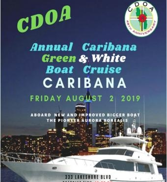 CDOA - Annual Caribana  Green And White Boat Cruise