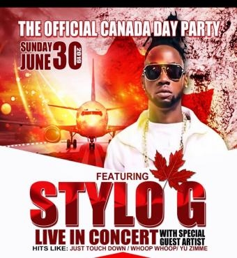 THE OFFICIAL CANADA PARTY :Featuring Stylo G Live In Concert