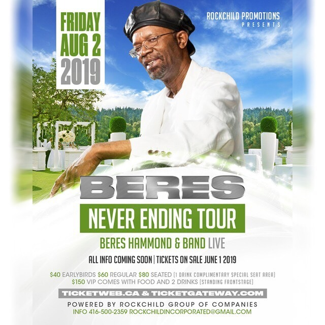 Beres Never Ending Tour : Beres Hammond and Band Live