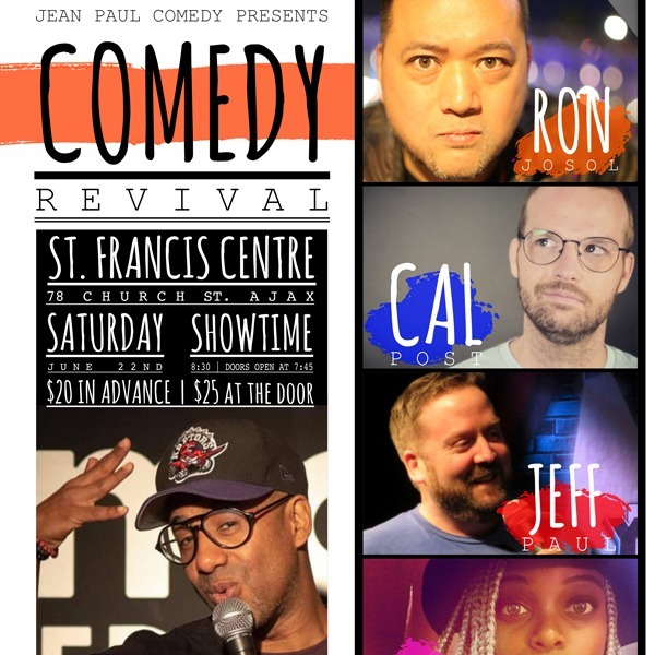 Comedy Revival June 22nd @ Francis Centre