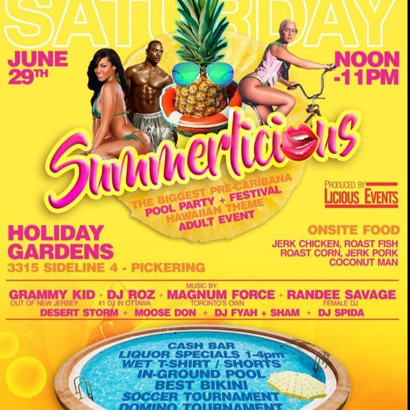 SUMMERLICIOUS ...get WET EDITION DAYTIME POOL PARTY...$25 ADVANCED TICKETS