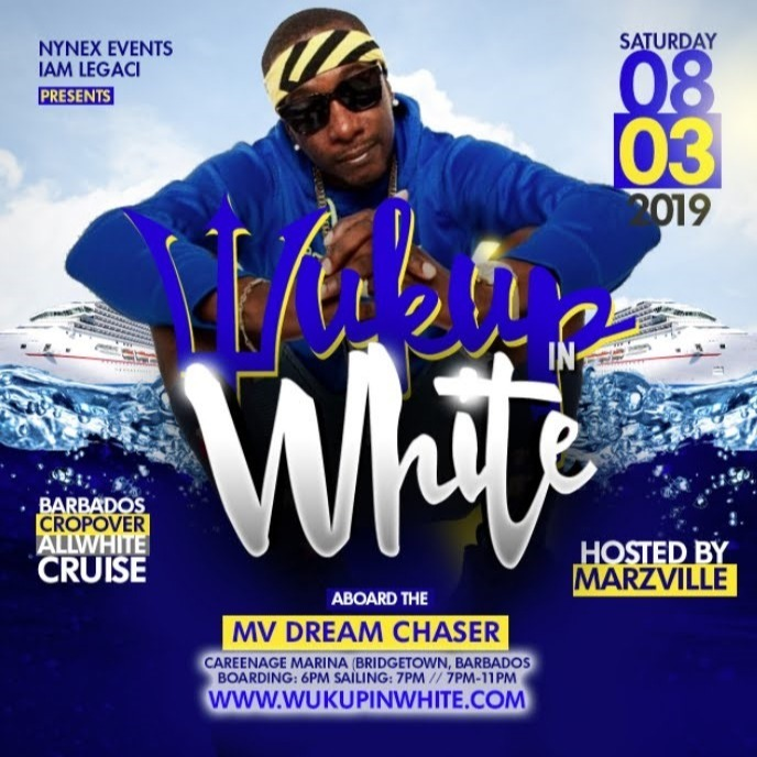 MARZVILLE hosts WUK UP IN WHITE The Annual All White Boat Ride · Barbados