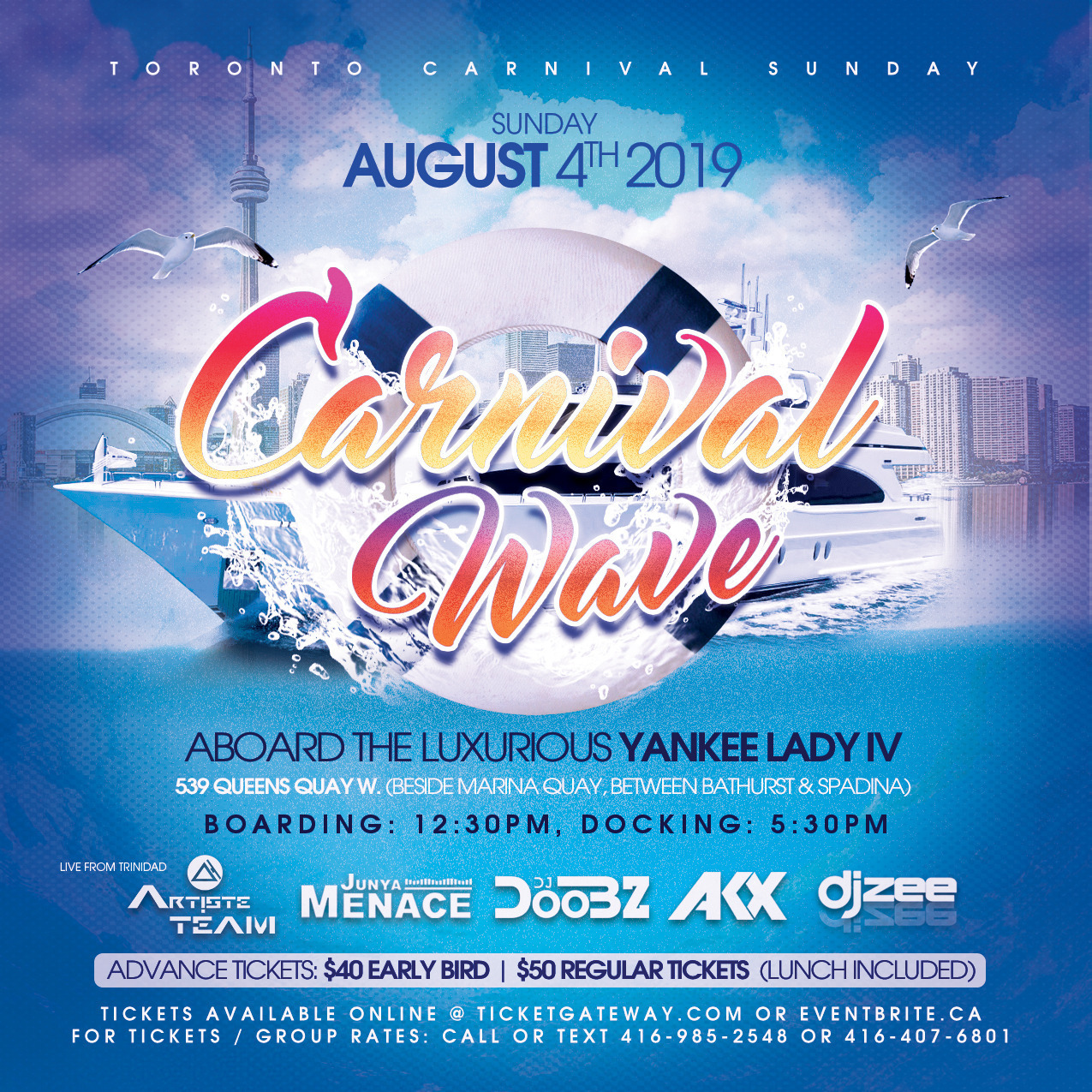 CARNIVAL WAVE - CARIBANA SUNDAY BOAT RIDE